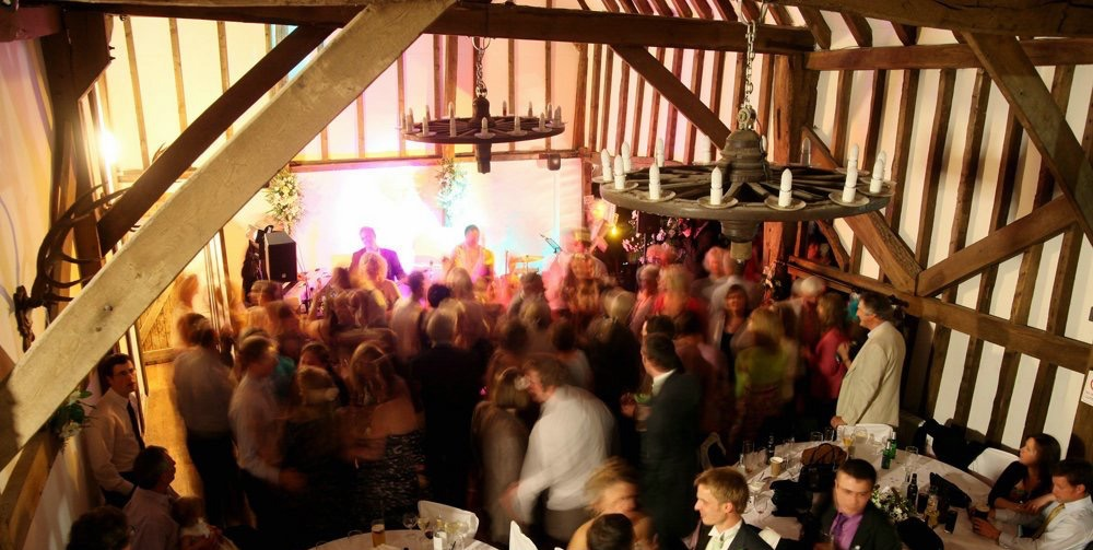 the Impressions Wedding Party Band, Blackstock Barn, East Sussex